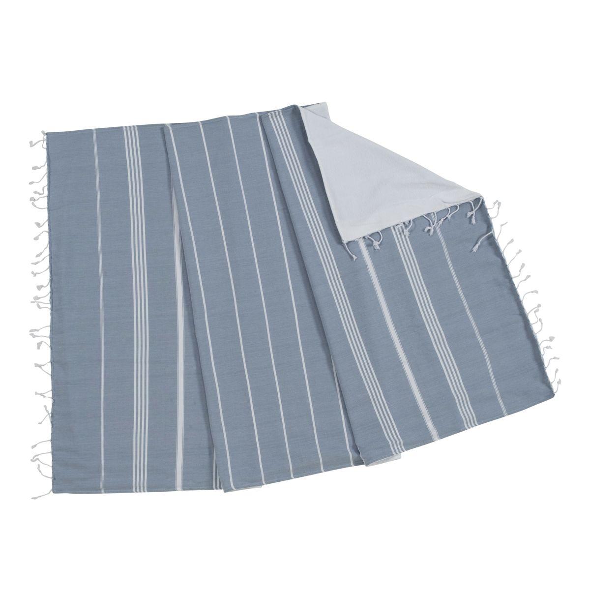 Peştemal / Havlulu Anı - Çift Yüzlü - Havacı Mavi