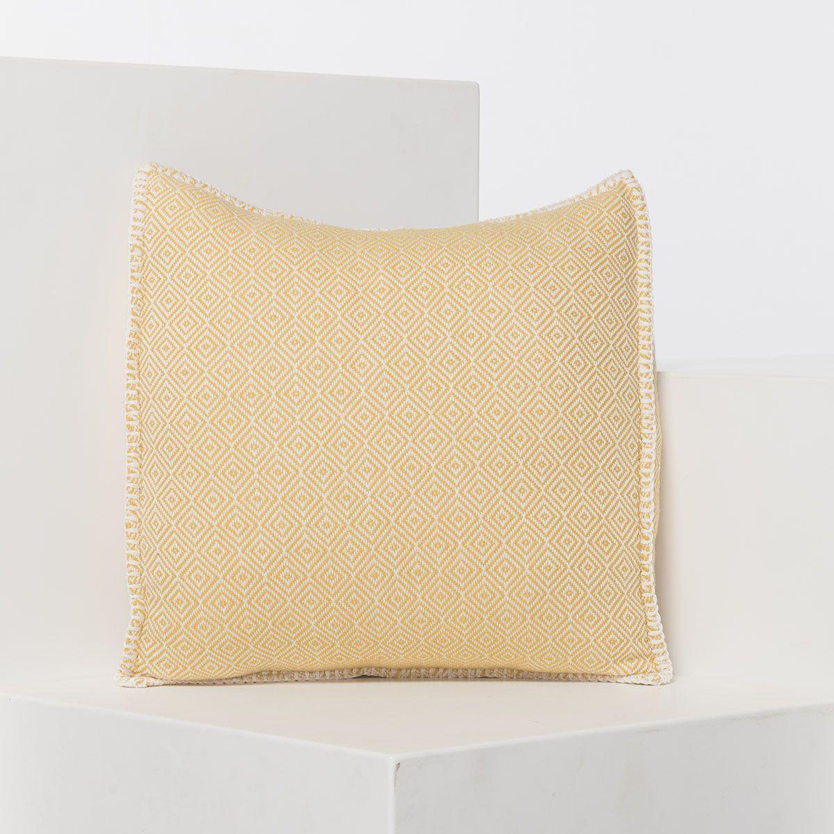 Cushion cover / Diamond - Yellow / 40x40