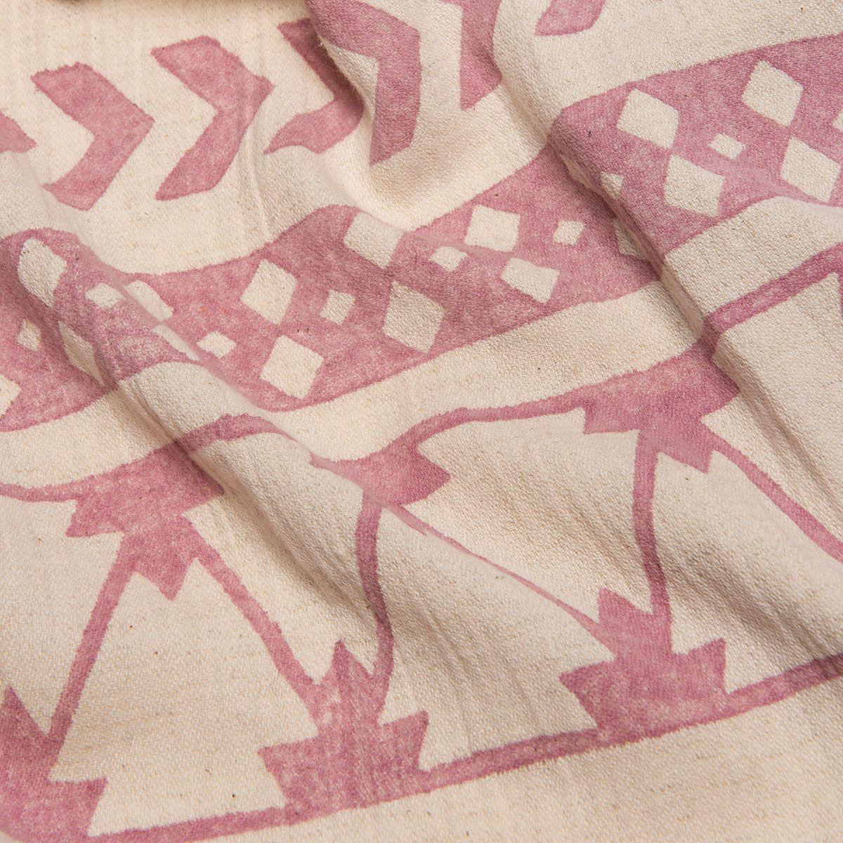 Peshtemal Hand printed 06 - Dusty Rose