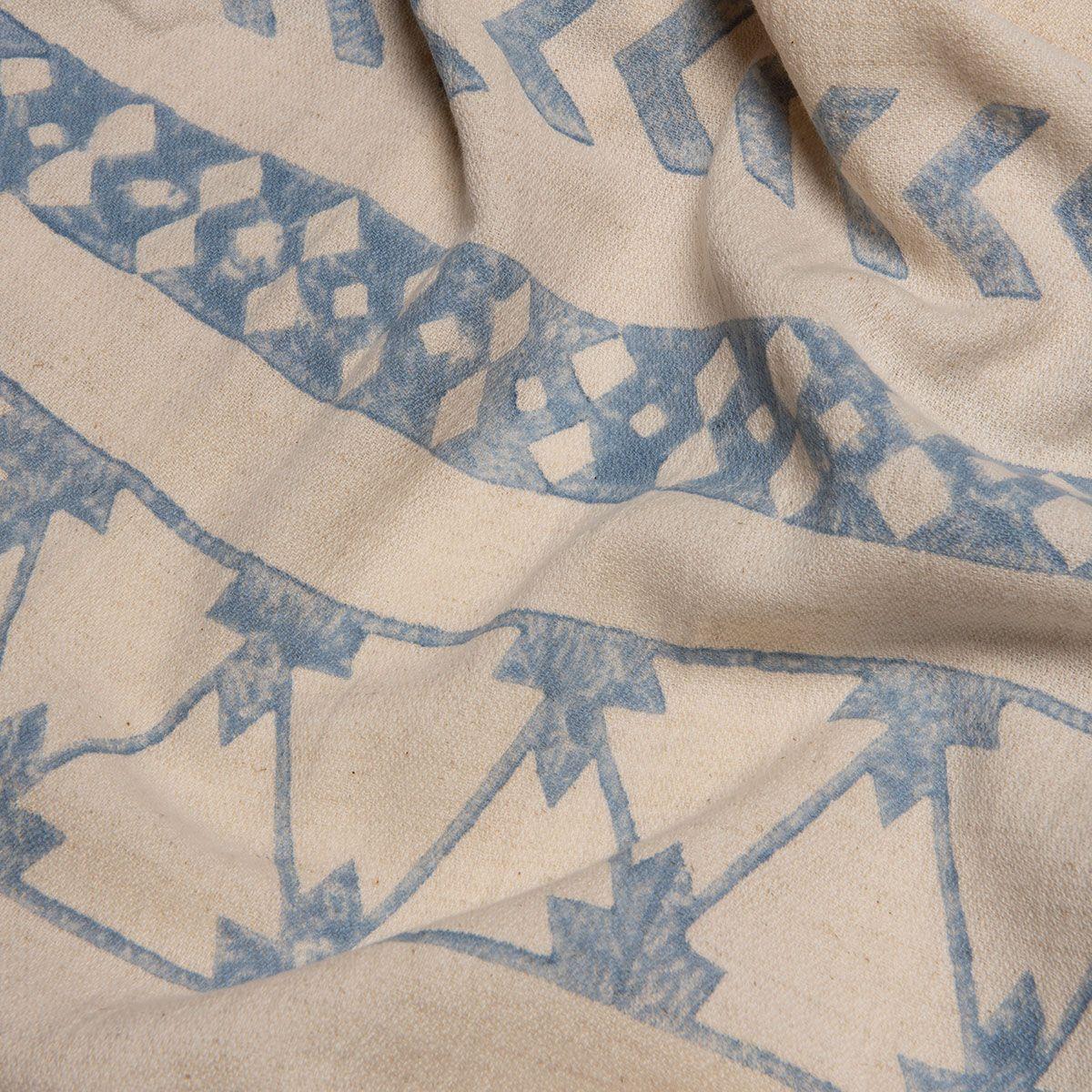 Peshtemal Hand printed 06 - Blue
