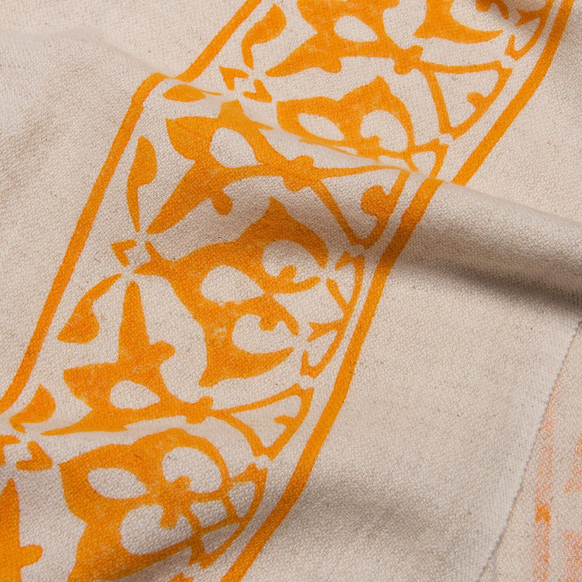 Peshtemal Hand printed 03 - Orange
