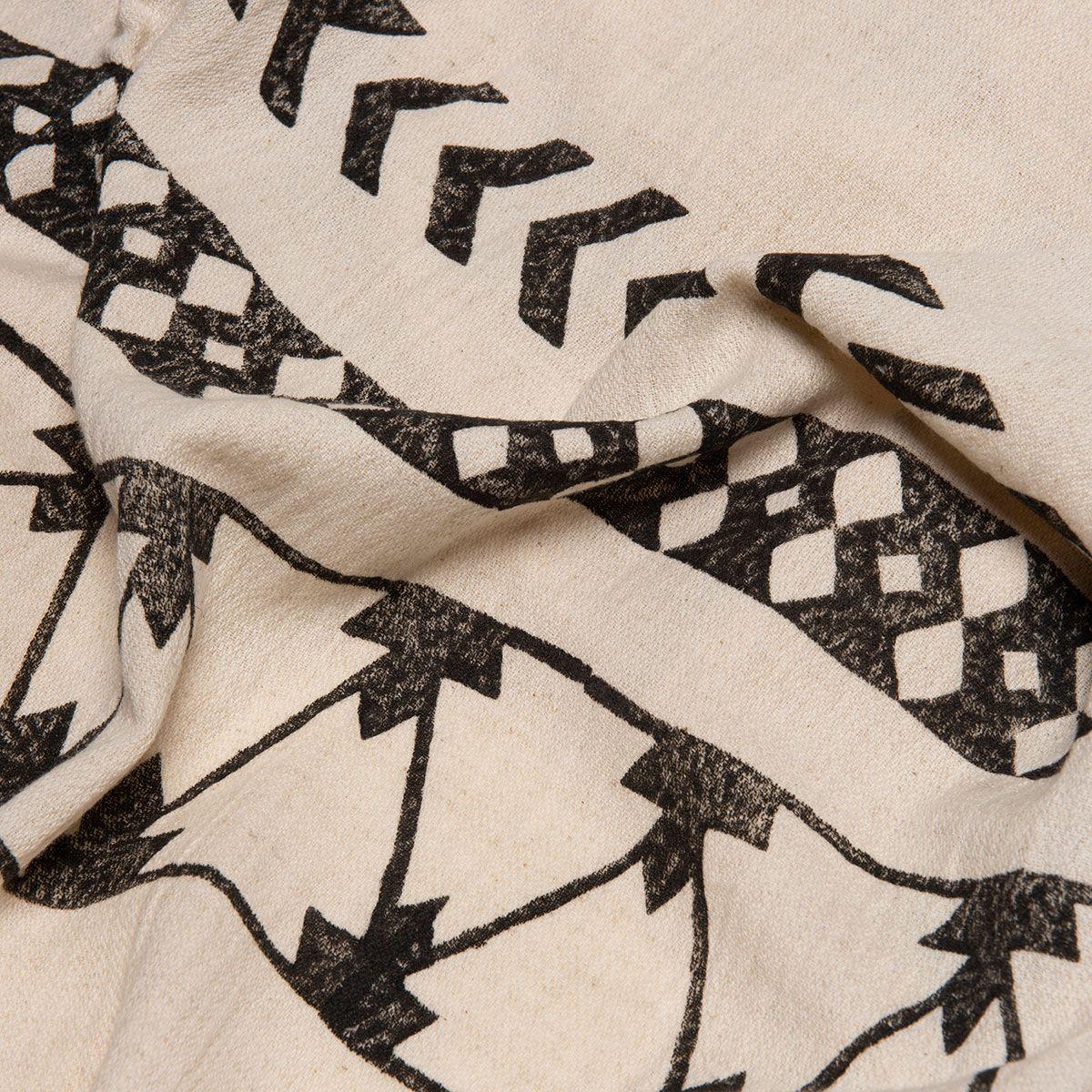 Peshtemal Hand printed 06 - Black