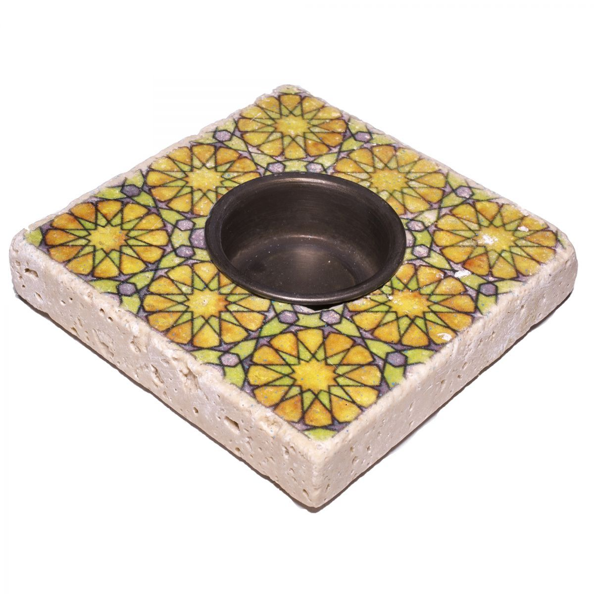 Candle Holder Lodge - Travertine 01A