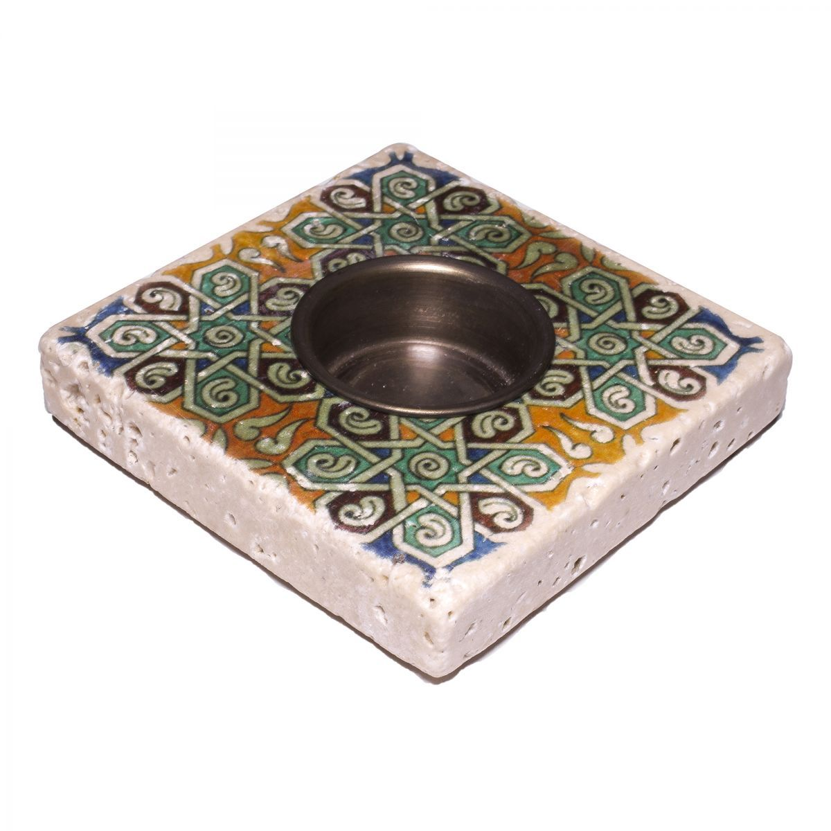 Candle Holder Lodge - Travertine 20A