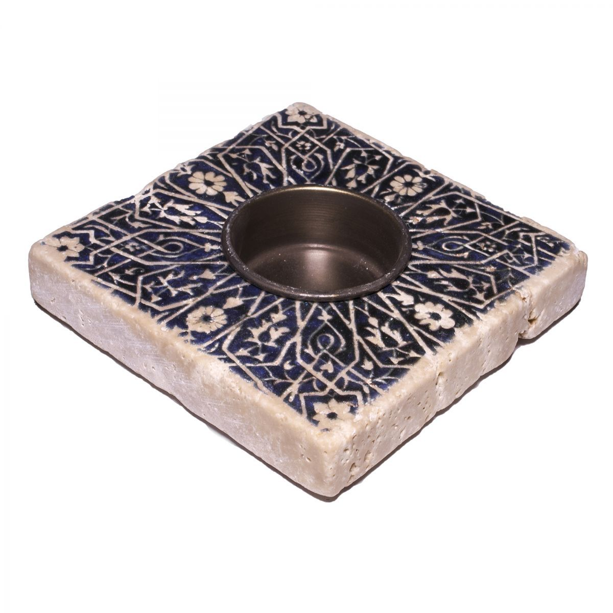 Candle Holder Lodge - Travertine 52A