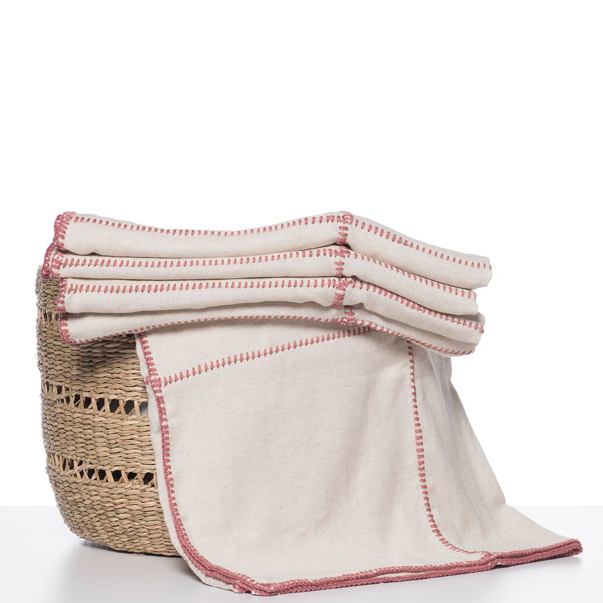 Throw - Nature / Dusty Rose stitched (Patchwork)
