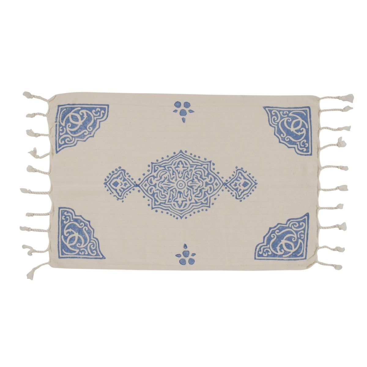 Peshkir Mini Towel - Hand Printed 02 / Blue (30x50)