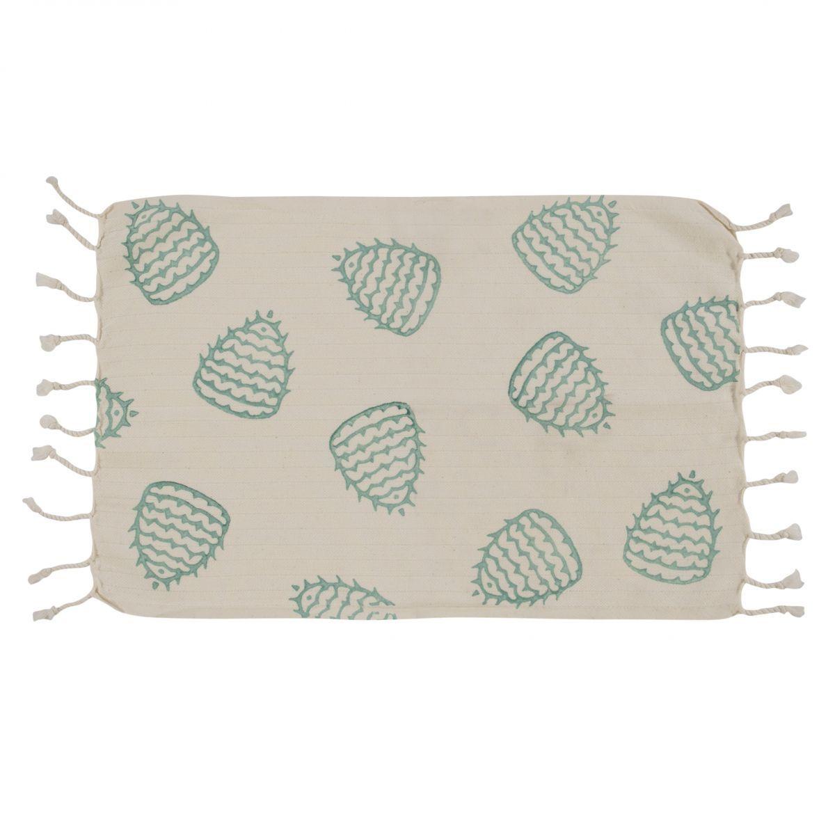 Peshkir Mini Towel - Hand Printed 05 / Mint (30x50)