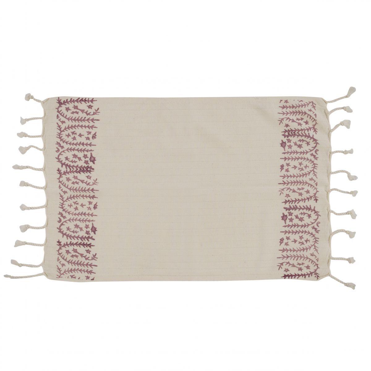 Peshkir Mini Towel - Hand Printed 01 / Dusty Rose (30x50)
