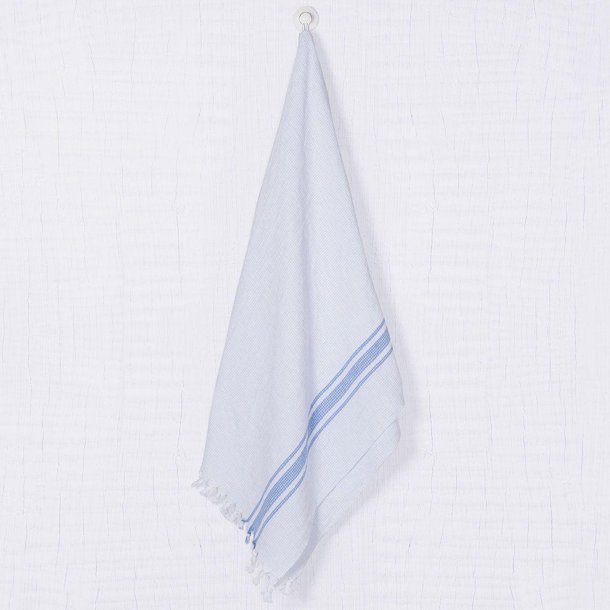 Peshtowel SLPAN - White / Blue Stripes