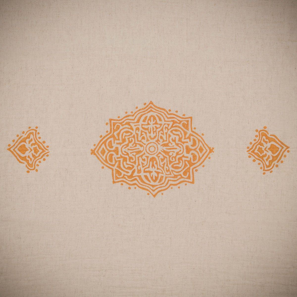 Peshtemal Hand printed 02 - Orange