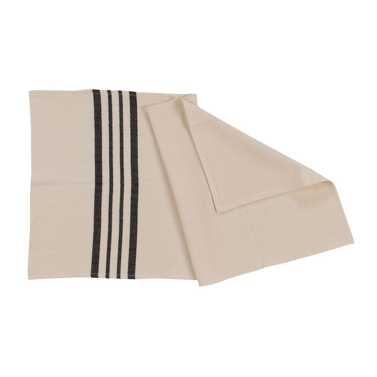 Peshkir Mini Sultan - Black Stripes / 40 x 70