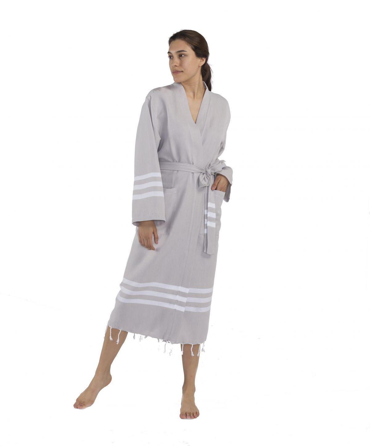 Bathrobe Bala Sultan kimono - Light Grey