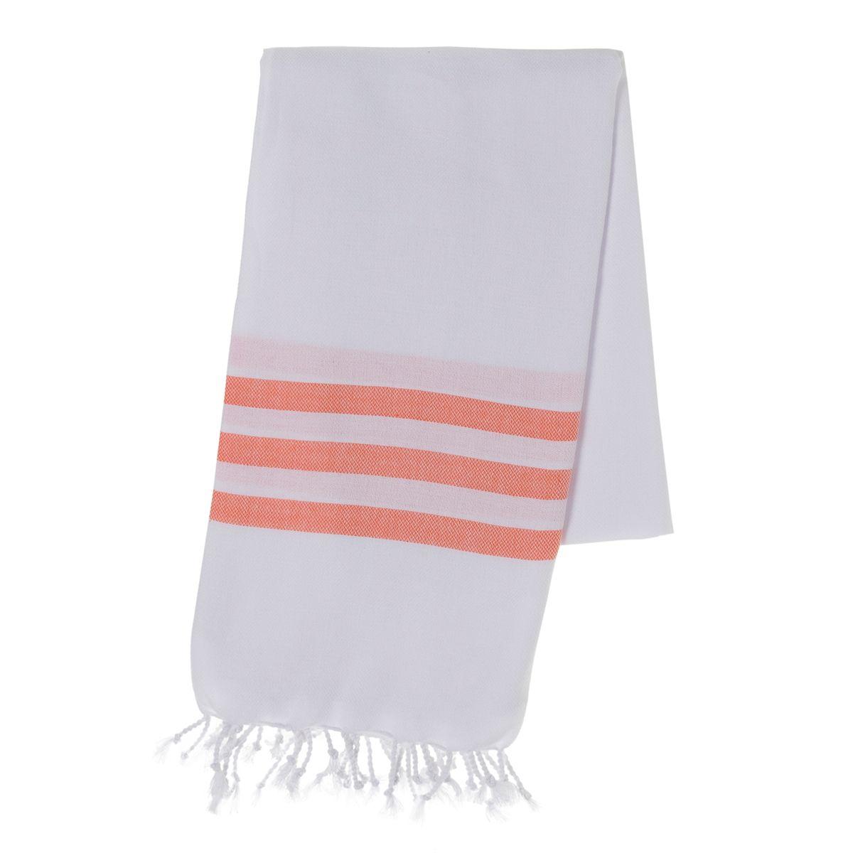 Peshtemal Bala Sultan - Orange Stripes