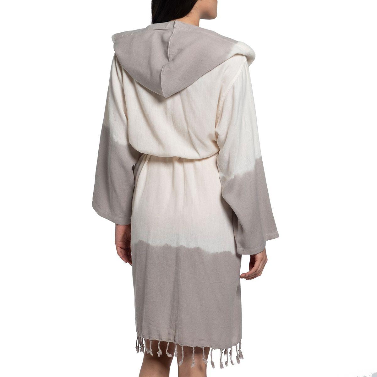 Bathrobe Tie Dye with hood - Taupe