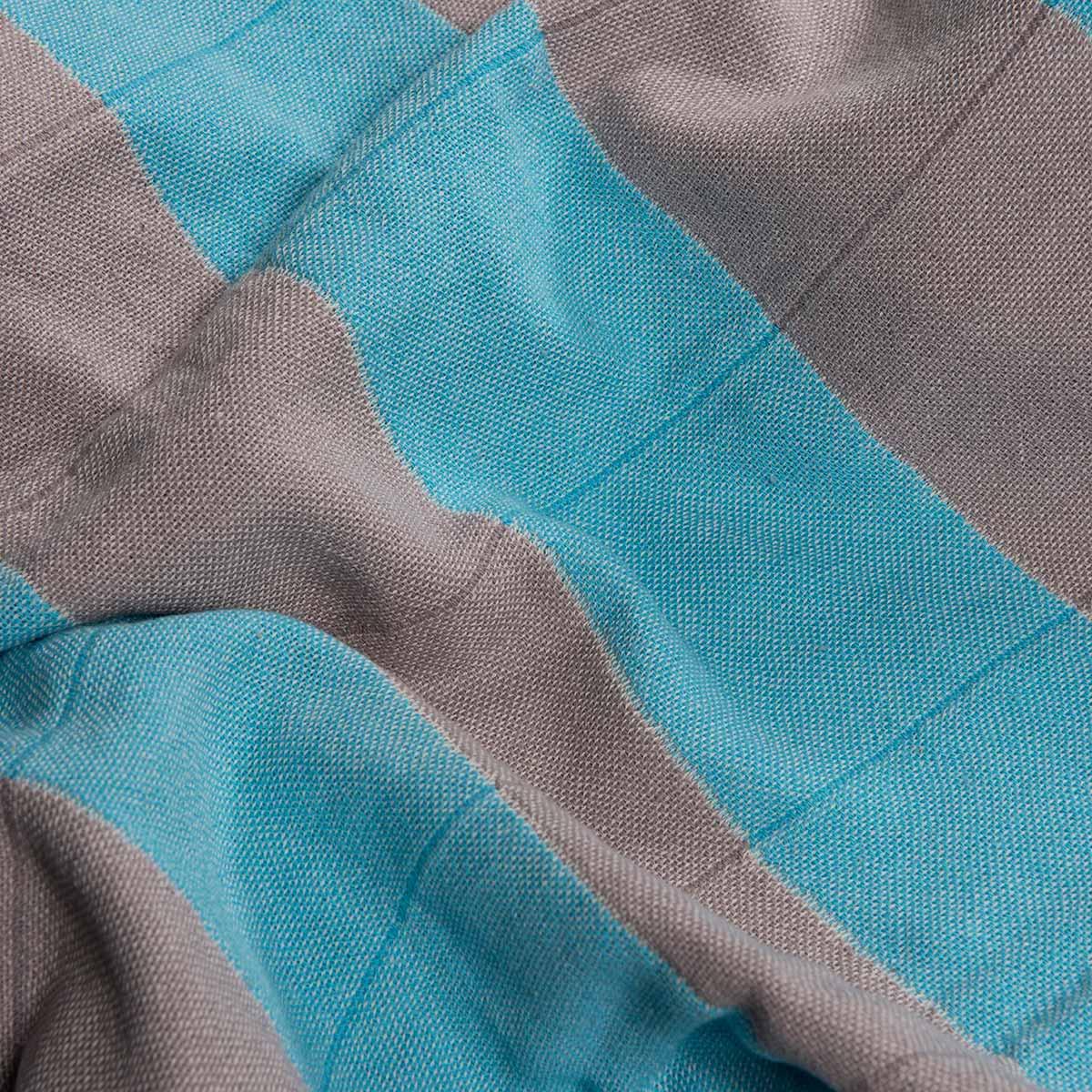 Peshtemal Double - Light Grey / Turquoise