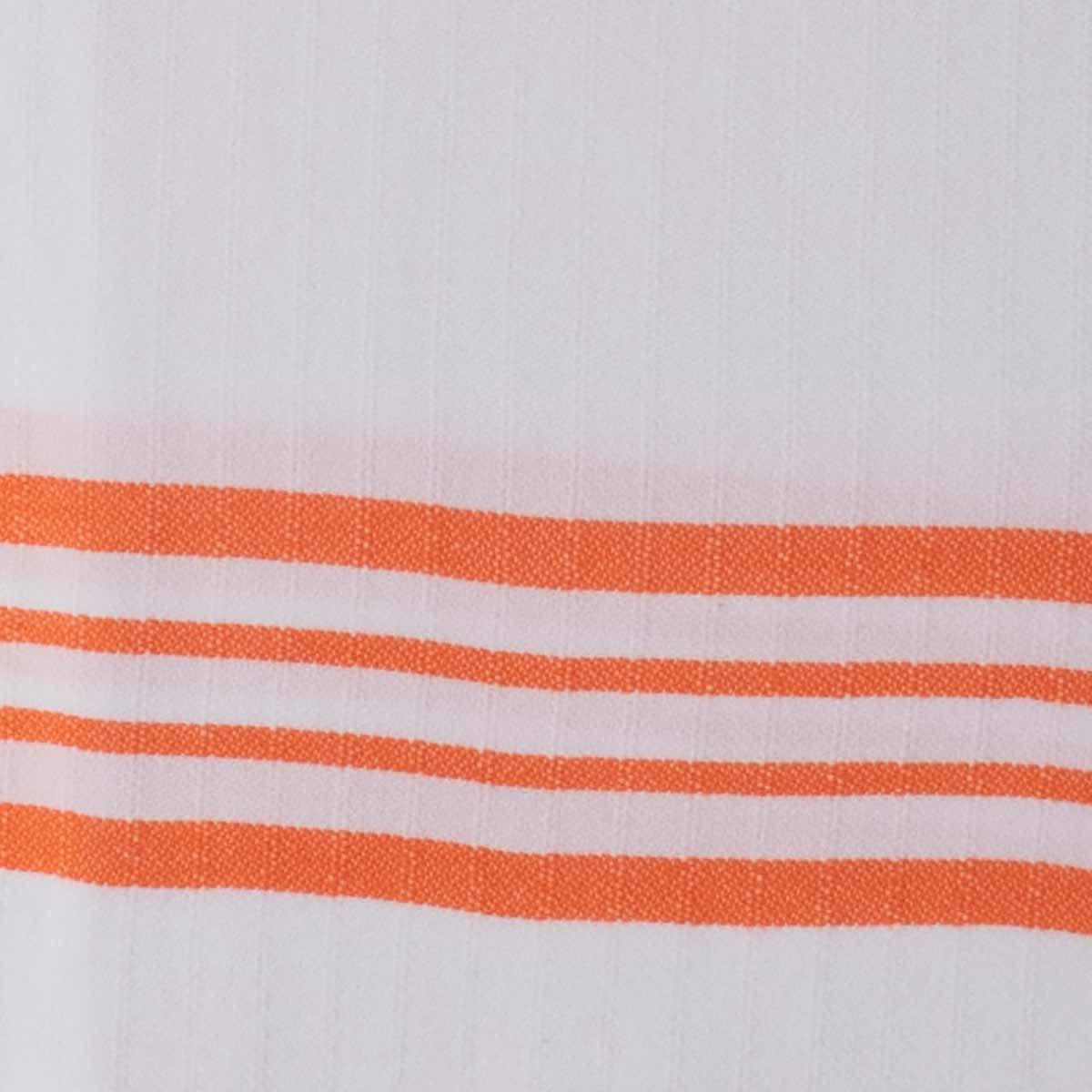 Peshkir - White Sultan / Orange Stripes