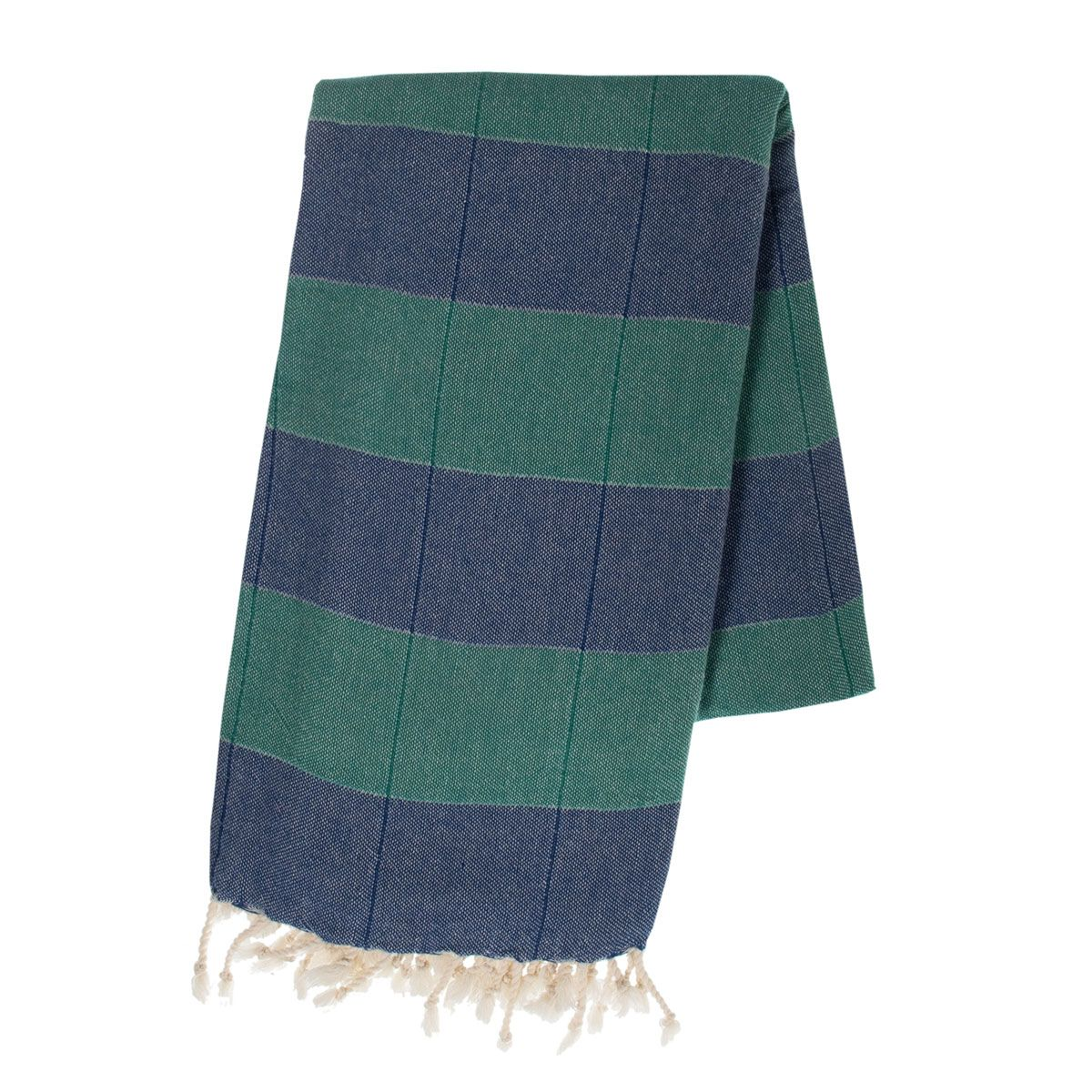 Peştemal Duble - Royal Mavi / Fanfare Yeşil