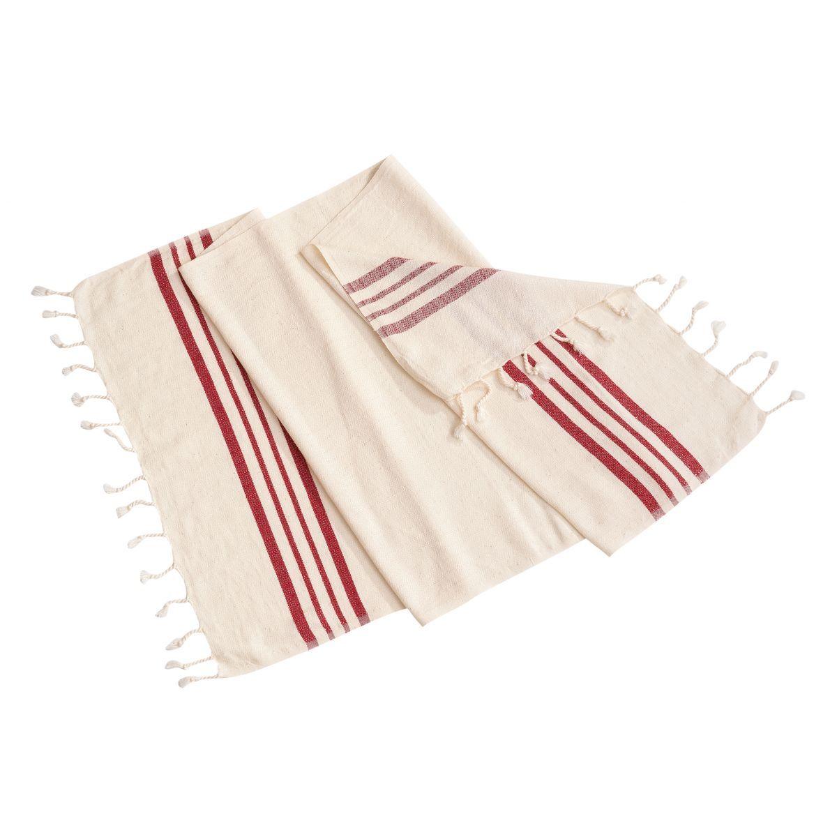 Peshkir Sultan - Bordeaux Stripes