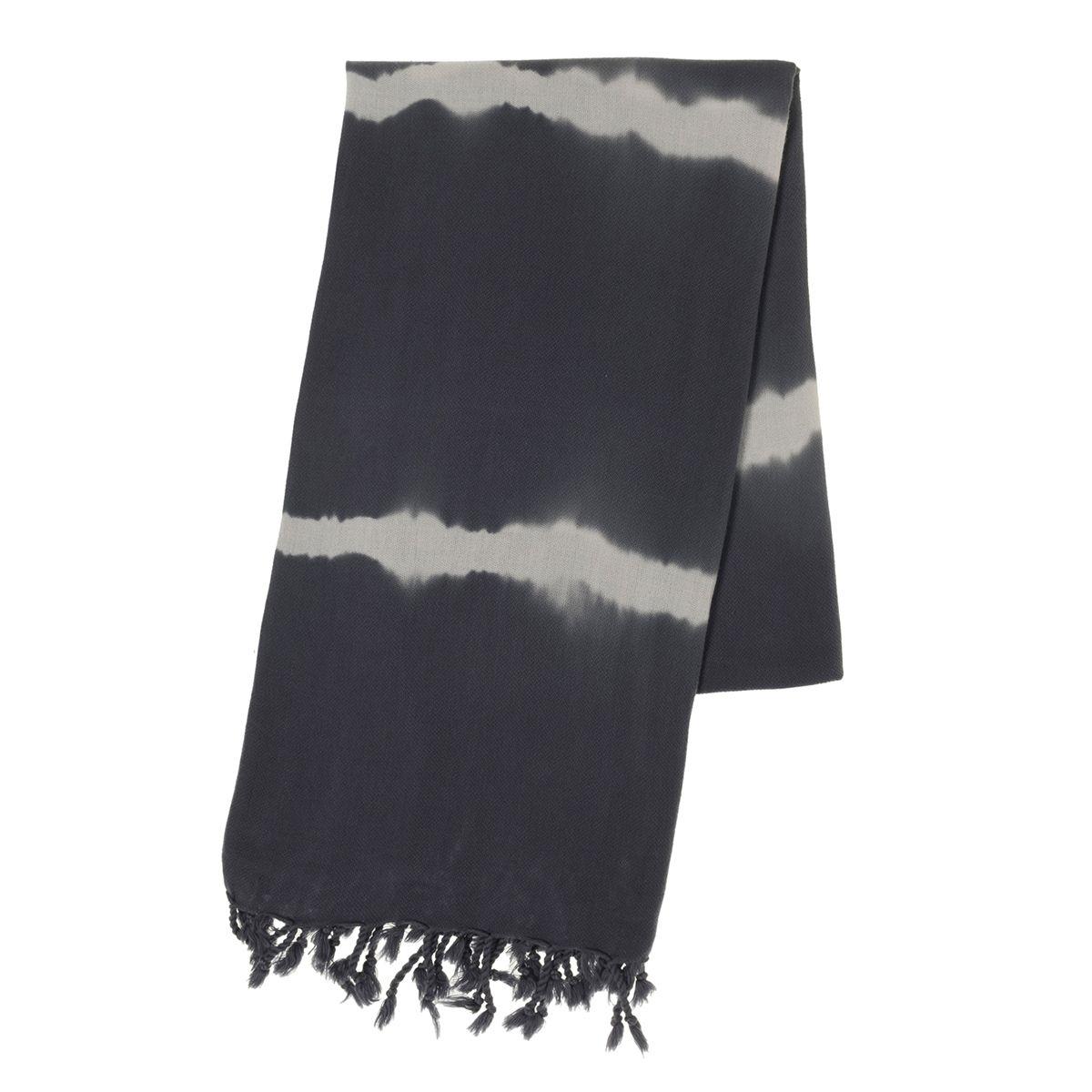 Peshtemal - Tie -Dye / Base Dark Grey