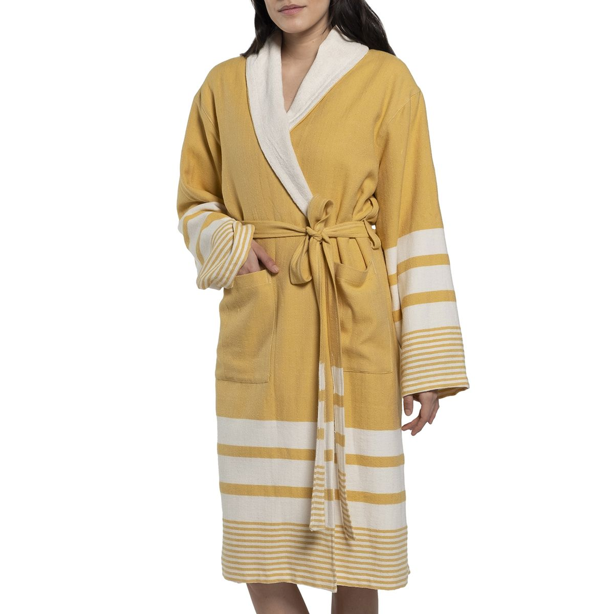 Bathrobe Tabiat with towel  - Yellow