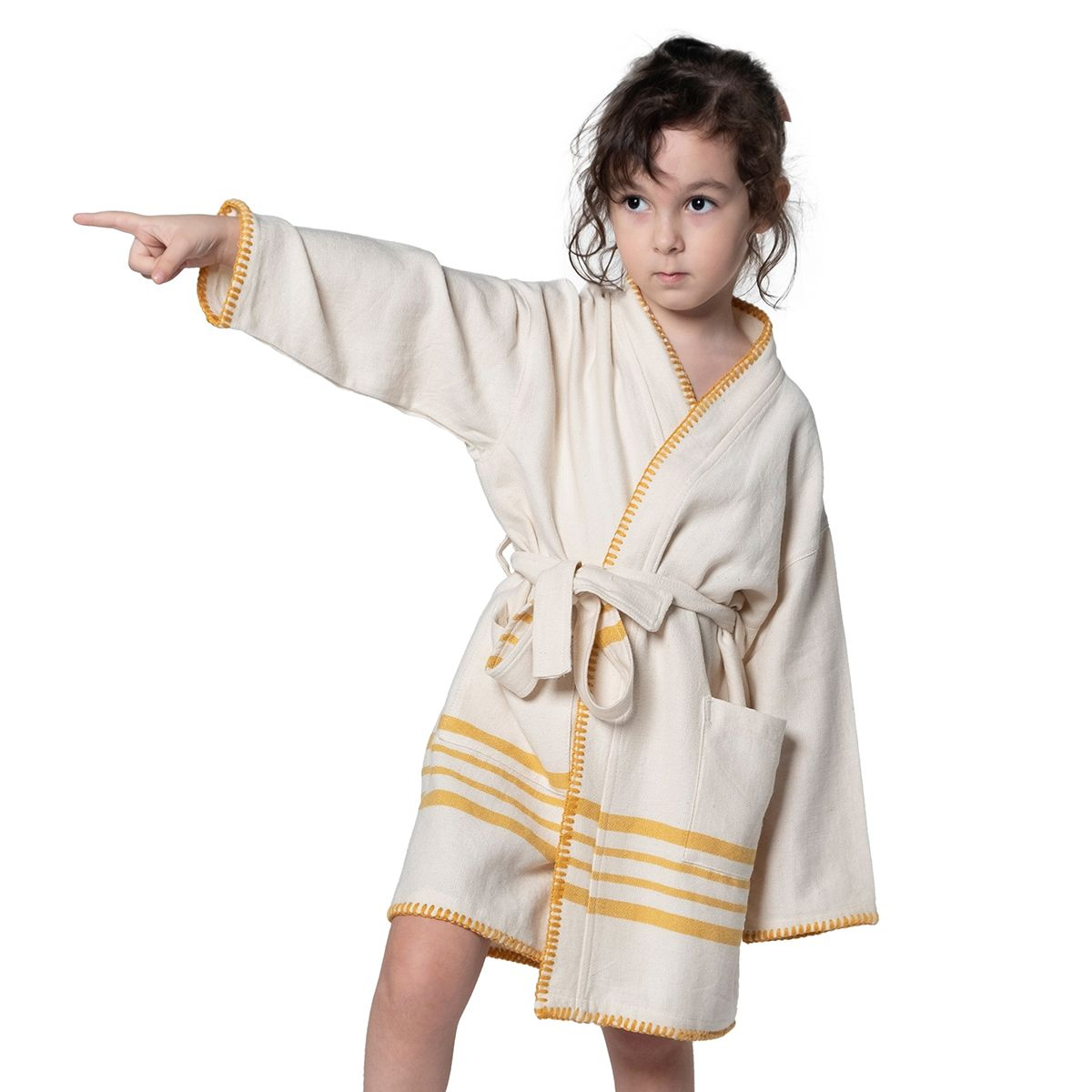 Bathrobe Kiddo Coban - Yellow Stripes