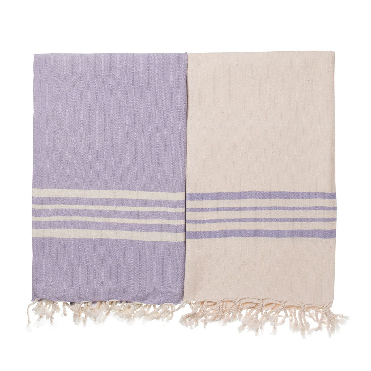 Peshtemal Sultan - Light Lilac Stripes