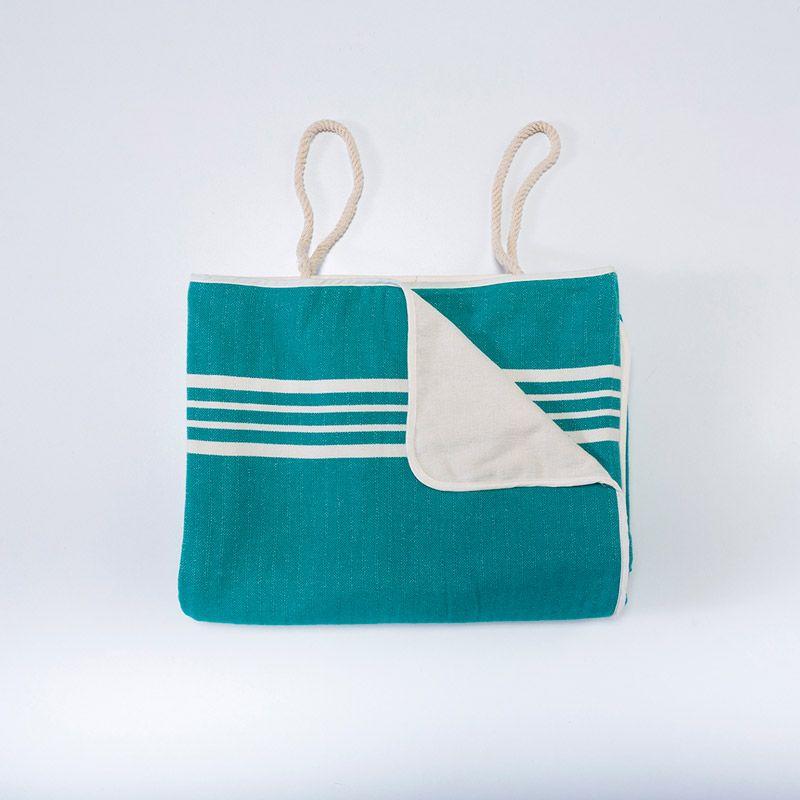 Çanta Havlu Krem Sultan - Fanfare Yeşil