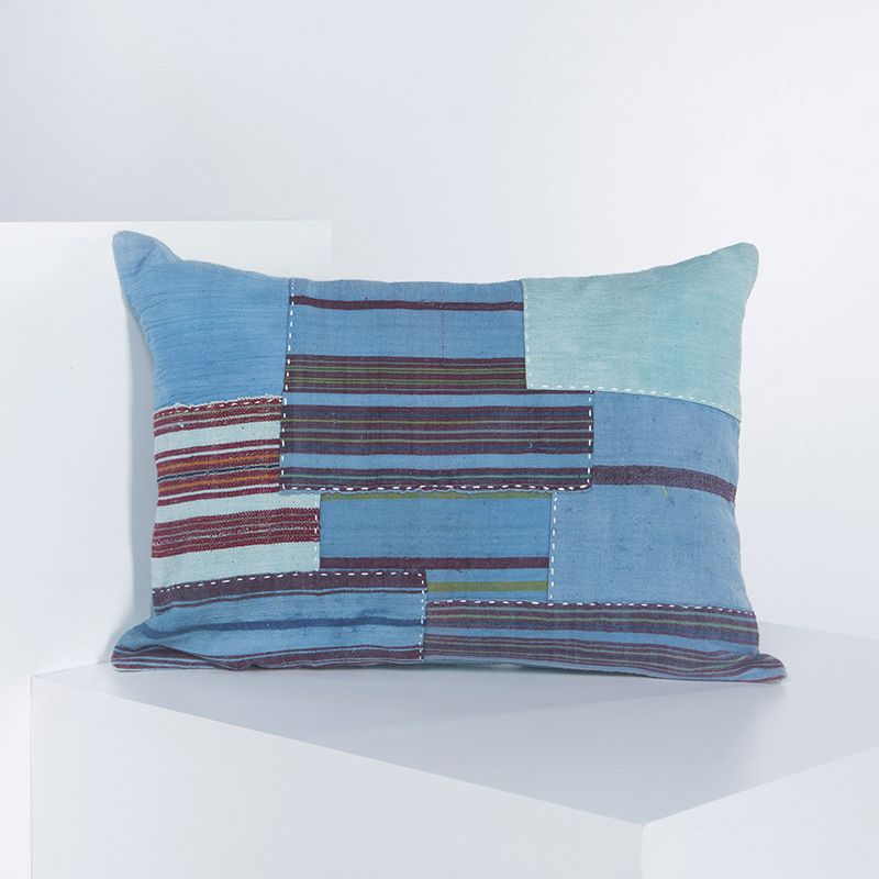Cushion Cover - Patchwork BR - Blue