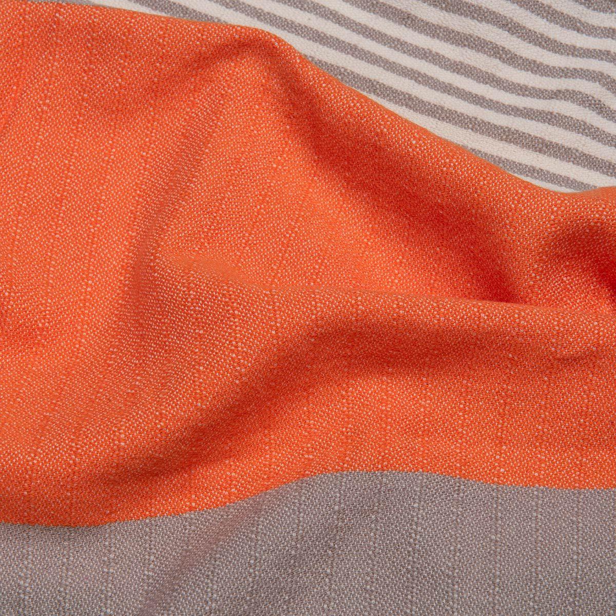 Peshtowel Twin Sultan - Taupe / Orange