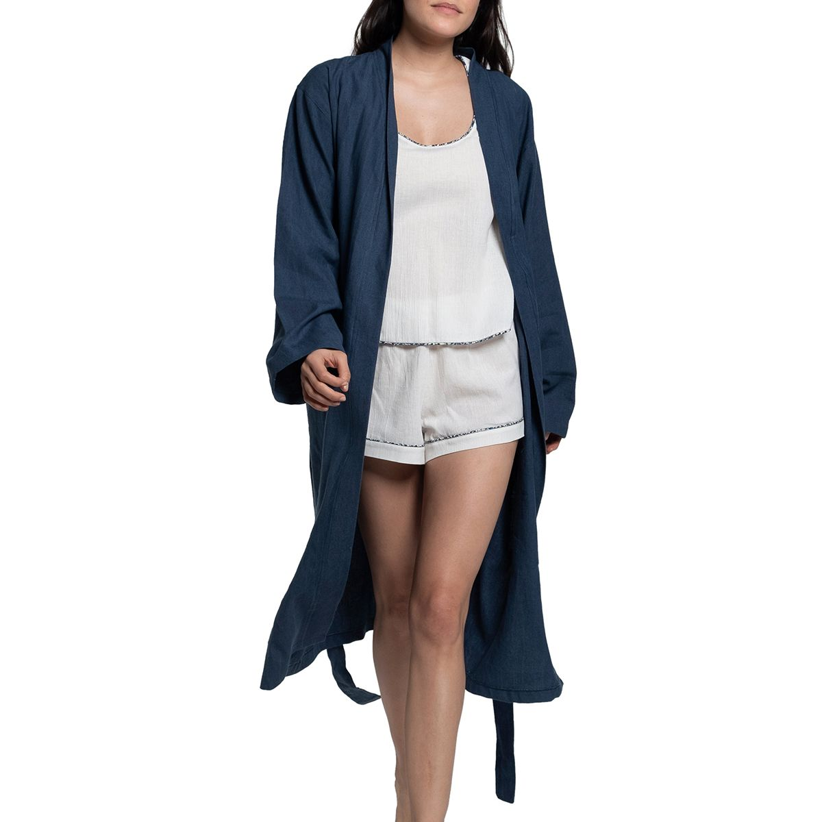 Pyjama Set Ecru - with pipping