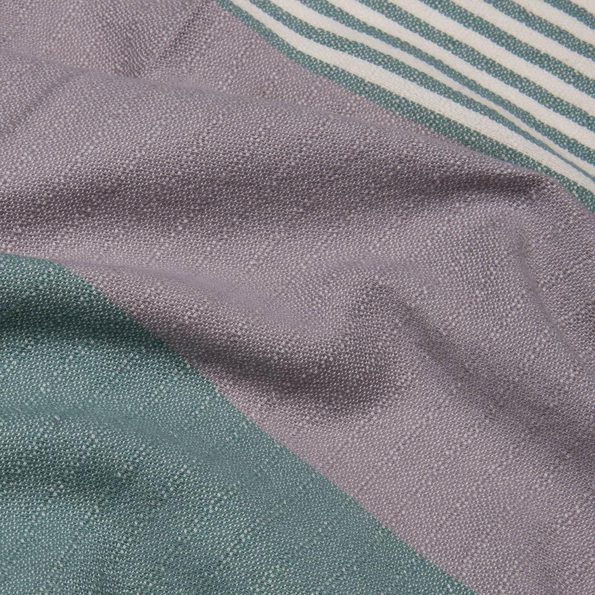 Peshtowel Twin Sultan - Almond Green / Light Grey