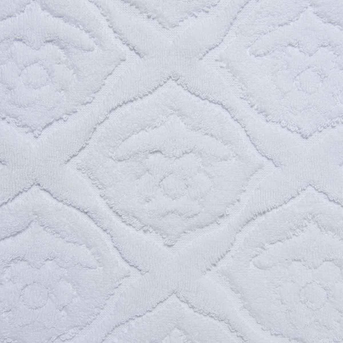 Bath Matt - Ottoman Rose / White
