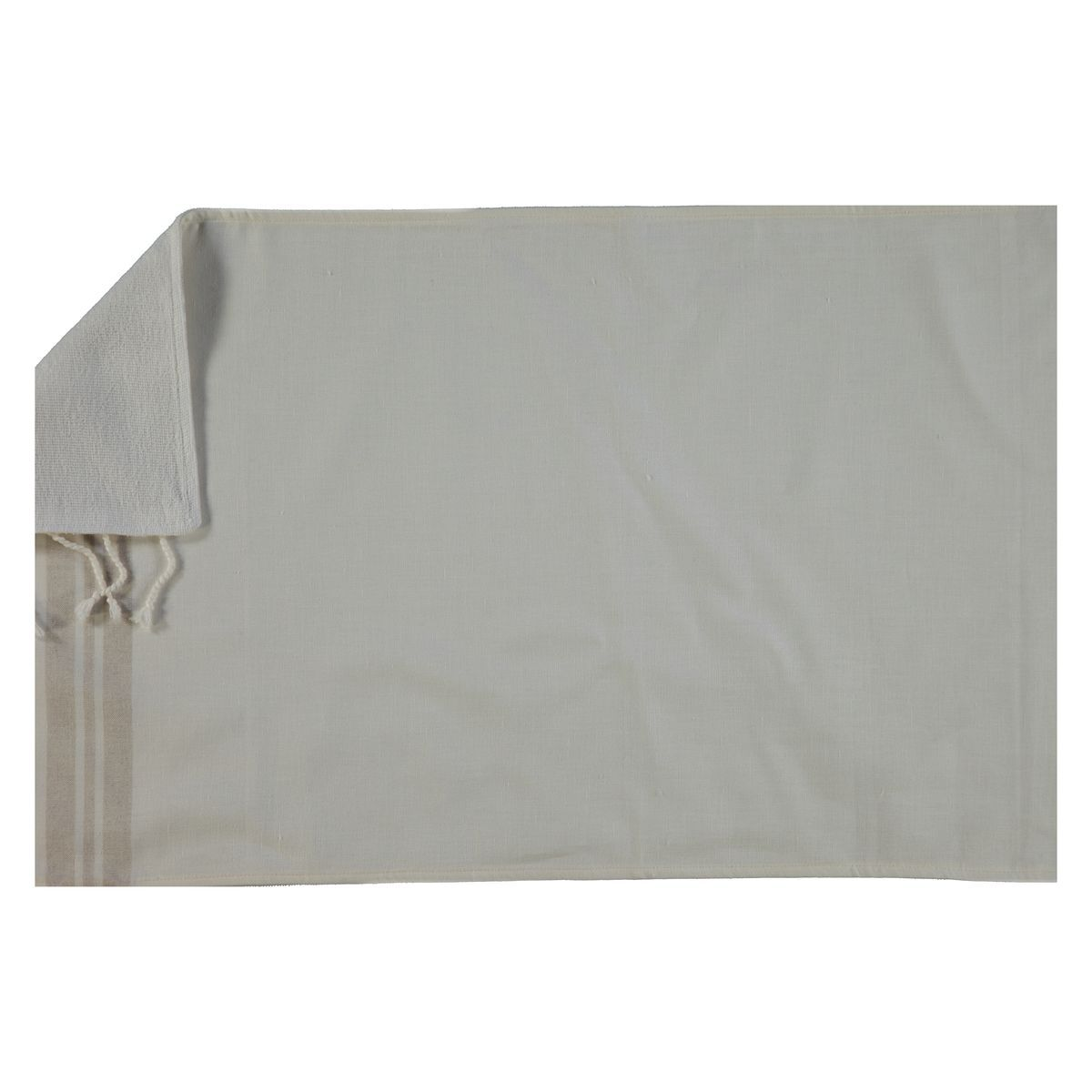 Peshtowel Mini / Double Face - White / Beige