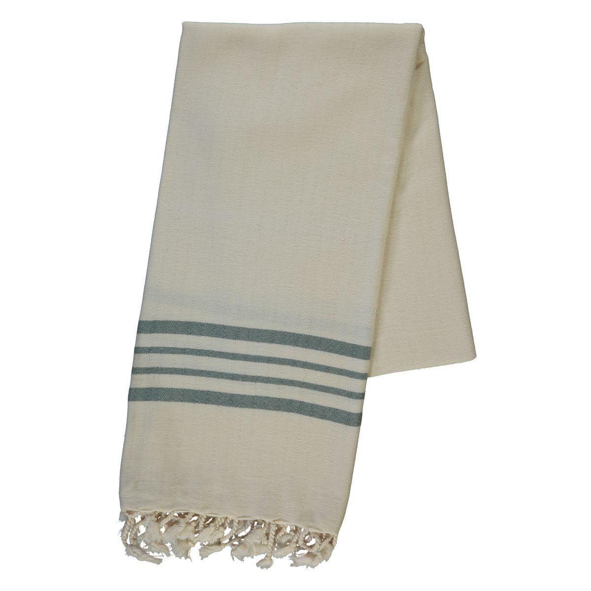 Peshtemal Sultan - Almond Green Stripes