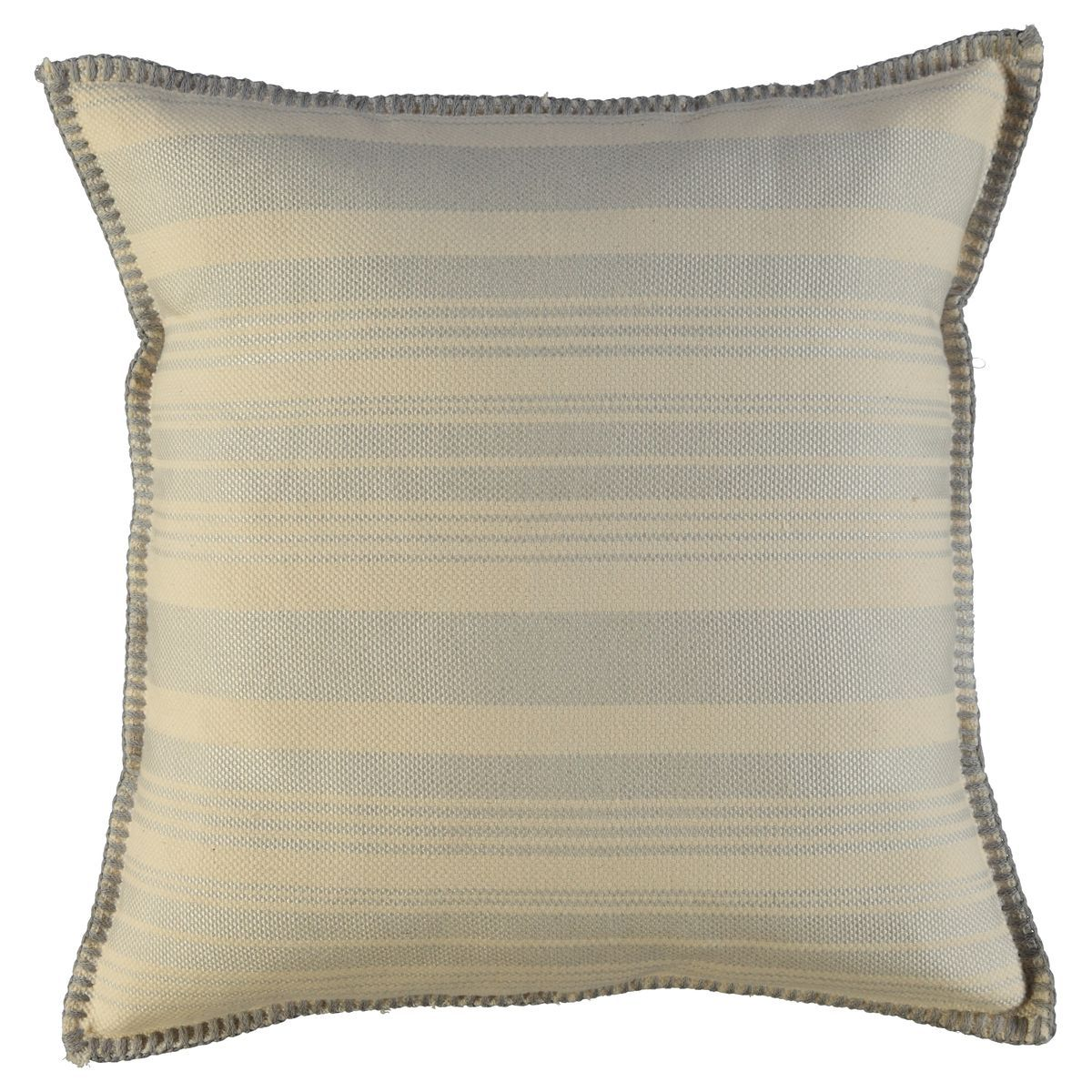 Cushion Cover / 10 days - Light Grey stripes