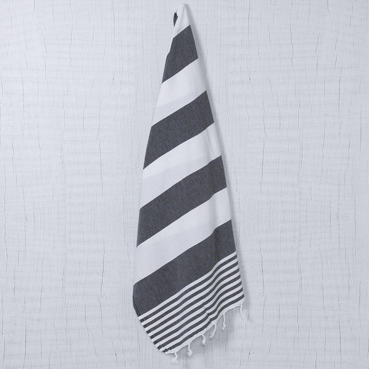 Peshtemal Ladon03 - Black / White