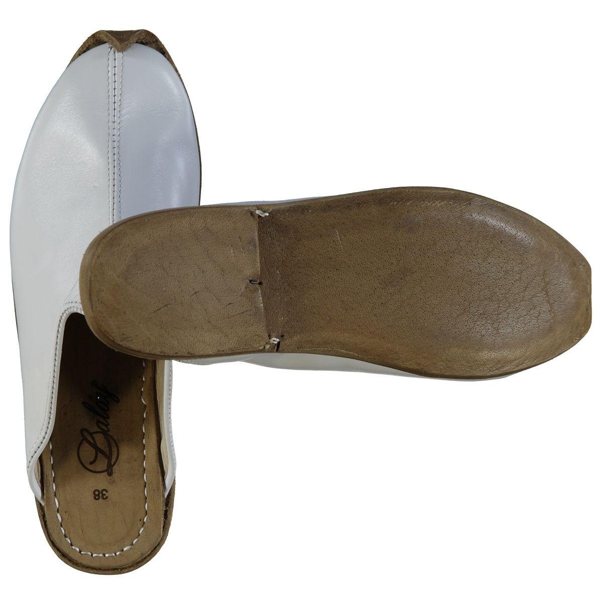 Slipper - Babouche - Leather / Handmade - White