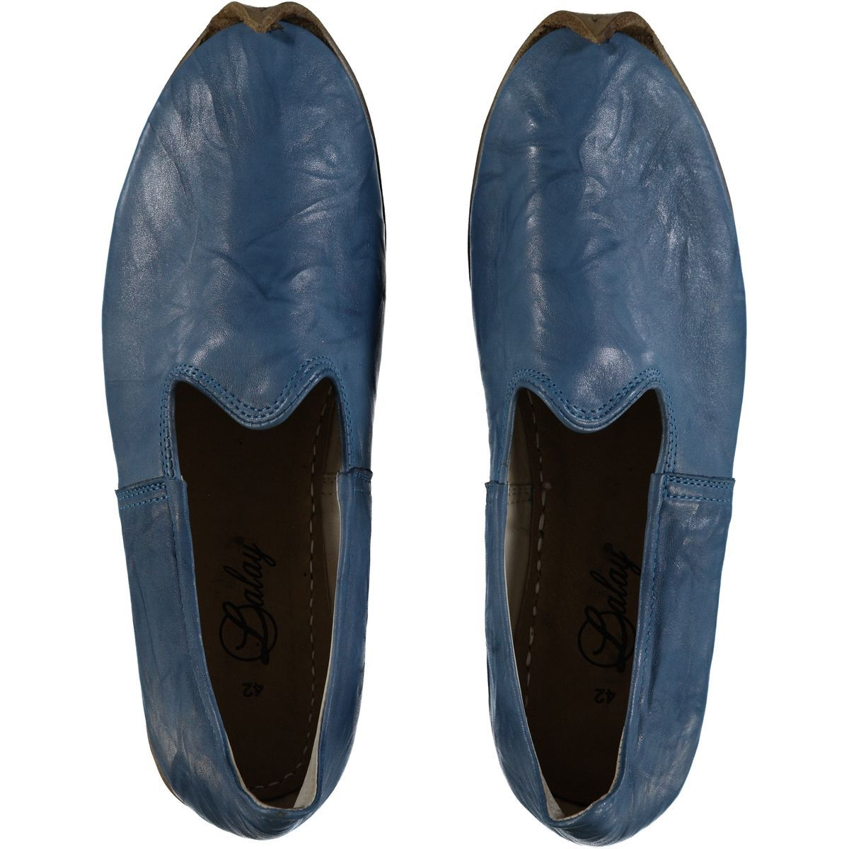 Shoe - Babouche / Leather / Handmade - Blue