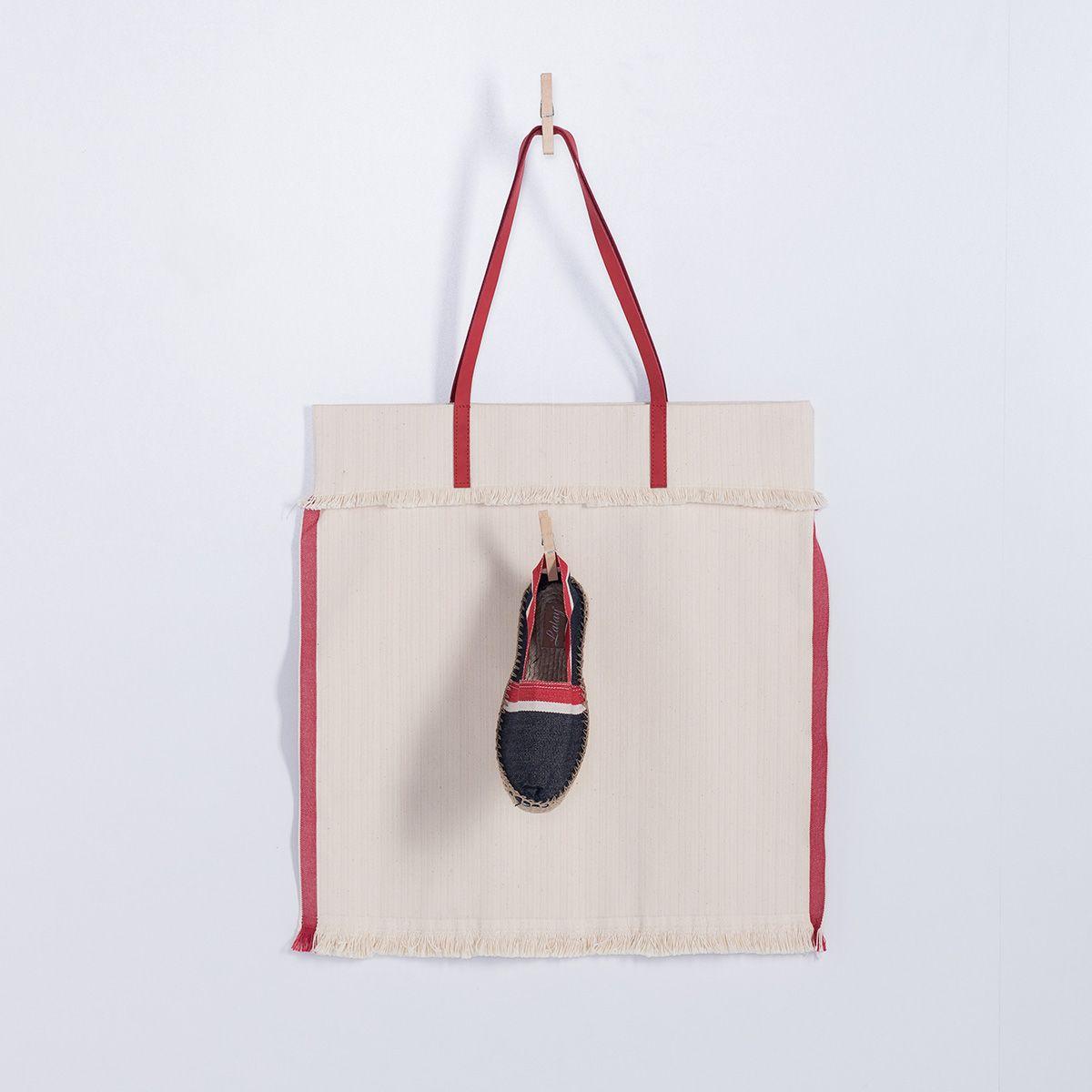 Çanta - Mars / Kırmızı Çizgili ve Saplı