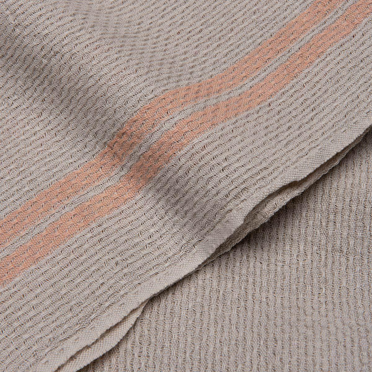Peshtemal Petek / Grey - Melon Stripes
