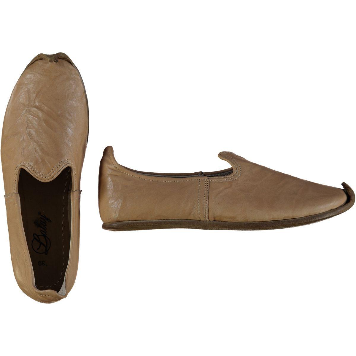 Shoe - Babouche / Leather / Handmade - Beige