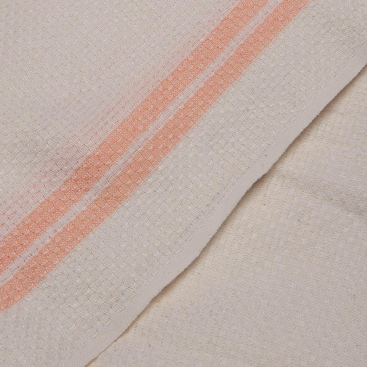 Peshtemal Petek / Ecru - Melon Stripes