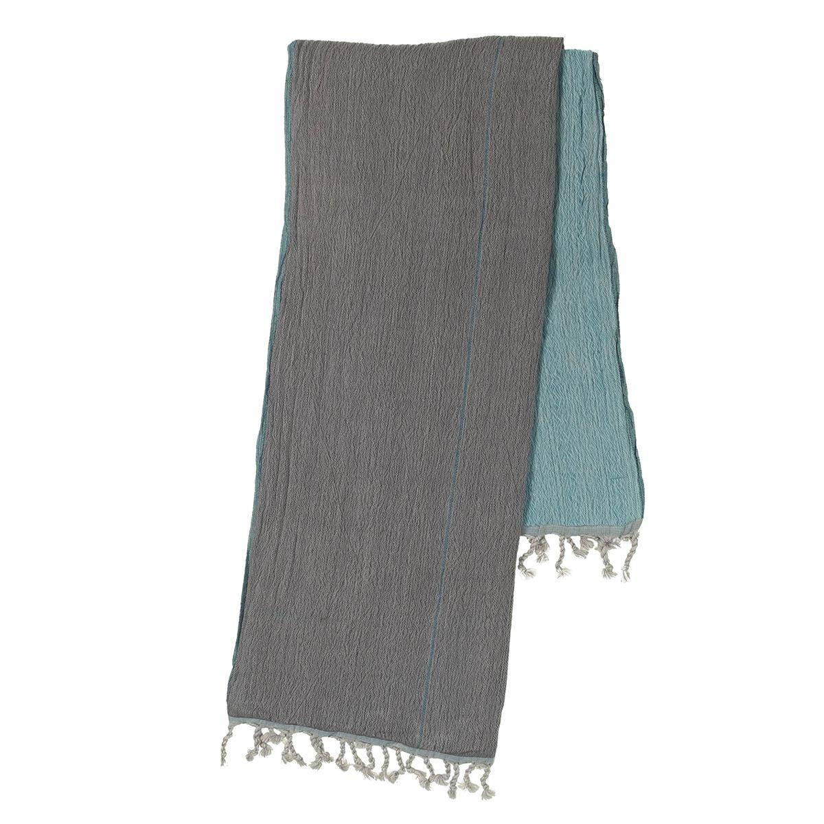 Peshtemal Double Side / Grey - Turquoise