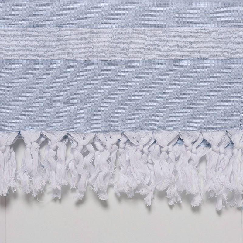 Havlu - Peştemal / Beyaz - Mavi
