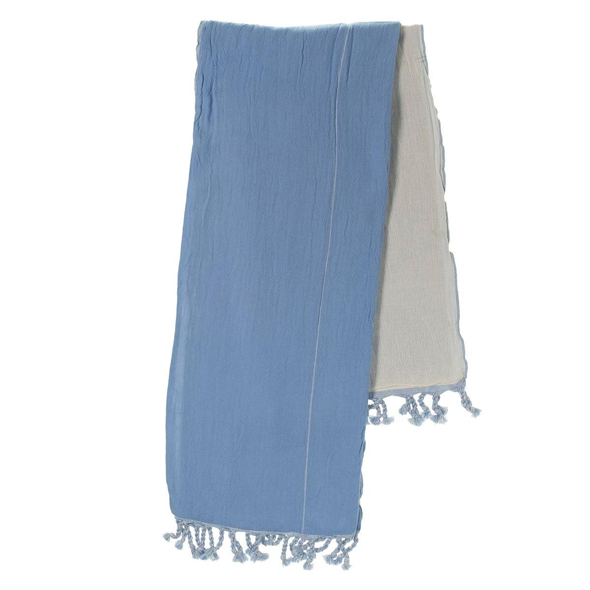 Peshtemal Double Side / Blue - Natural