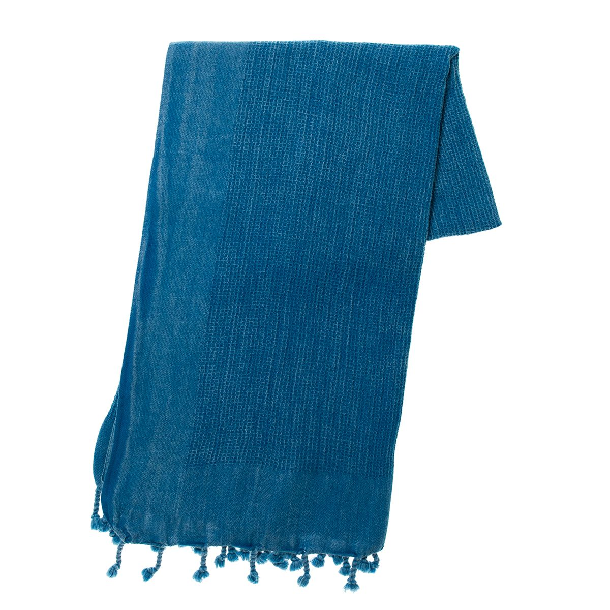 Peshtemal Stone Washed / Gofret - Petrol Blue