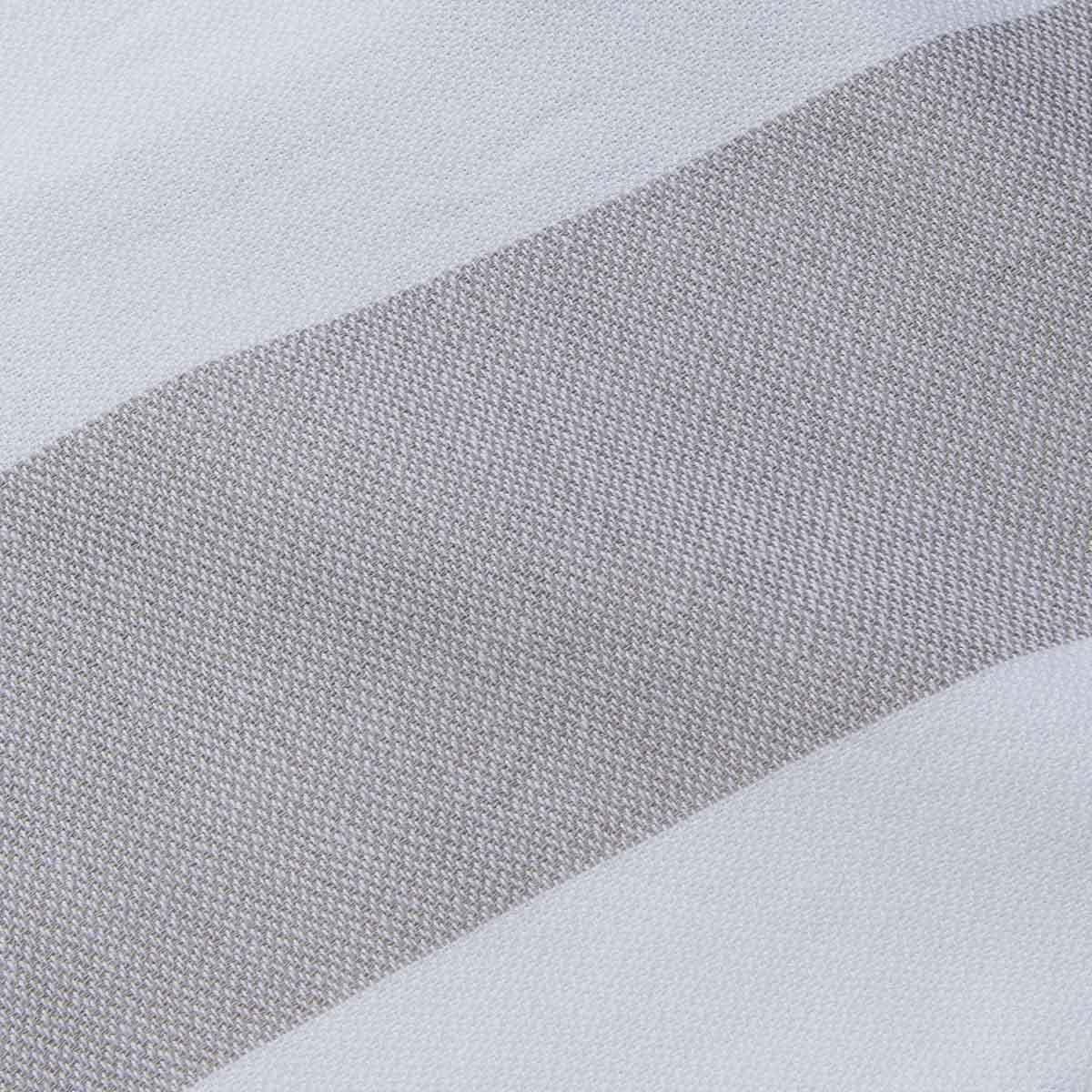 Peshtemal - Tenedos / White - Silver Grey