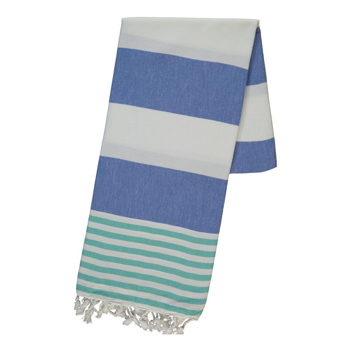 Peshtemal Ladon03 - Green / Royal Blue
