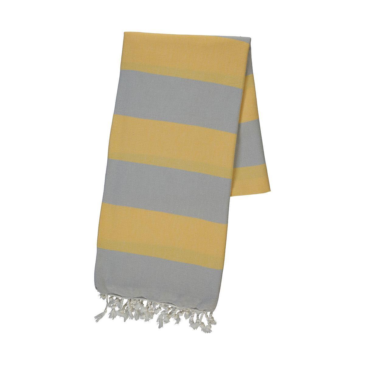 Peshtemal - Tenedos / Silver Grey - Yellow
